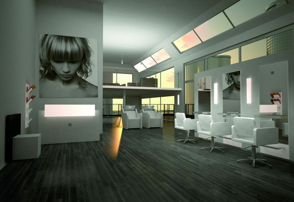 Salon barbers beauty salons interior design salon for Ambiance salon